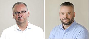 Zdjęcie Prezydenta Miasta - Konrada Pokory oraz Wiceprezydenta - Pawła Szewczyka